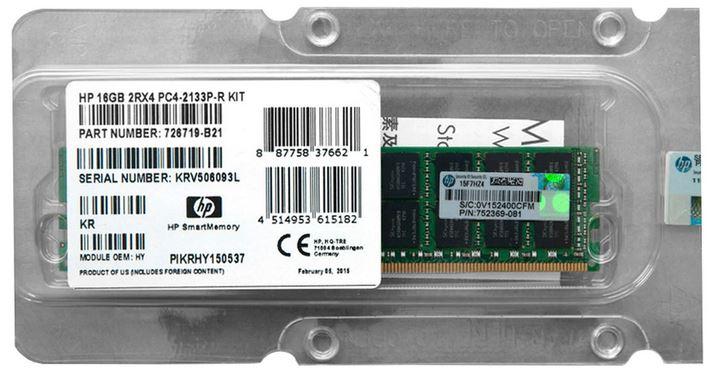 HP MEMORY 16GB 2Rx4 PC4-2133P