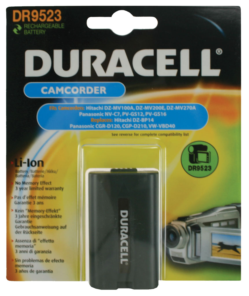 DURACELL.BAT.PANASONIC CGR-D12