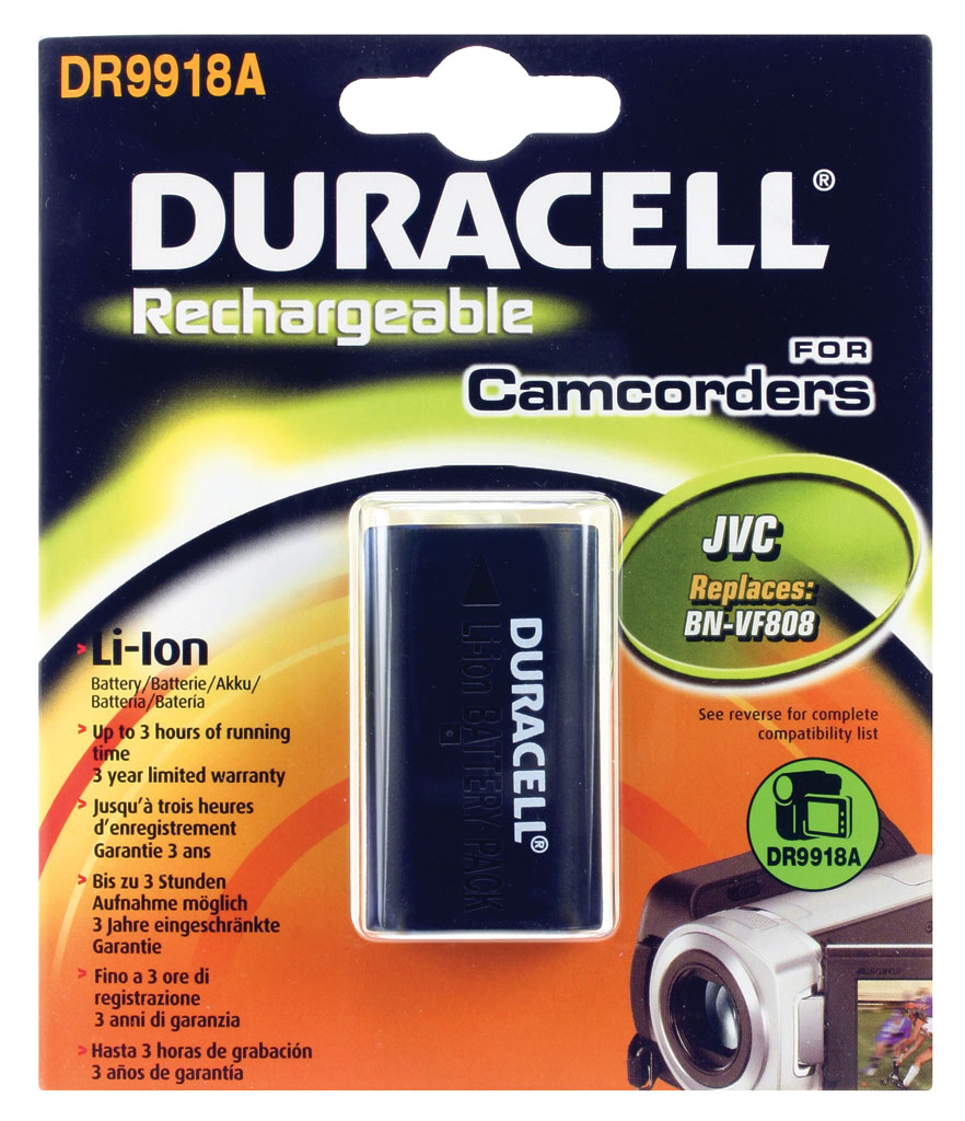 DURACELL.BAT.REPLACES JVC BN-V