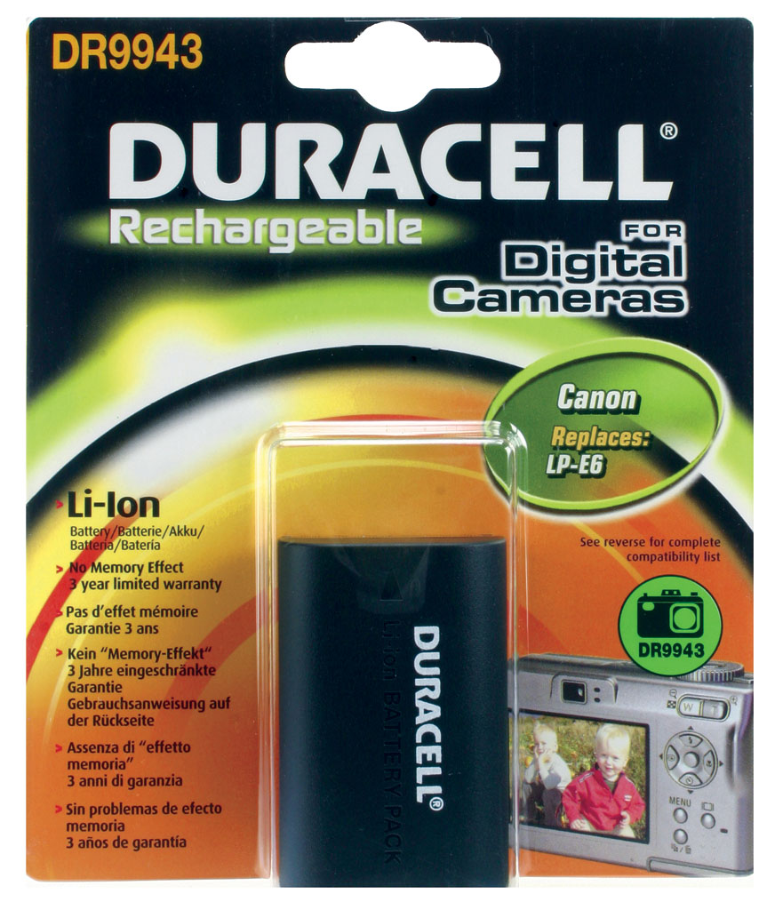 DURACELL.BAT.REPLACES CANON LP