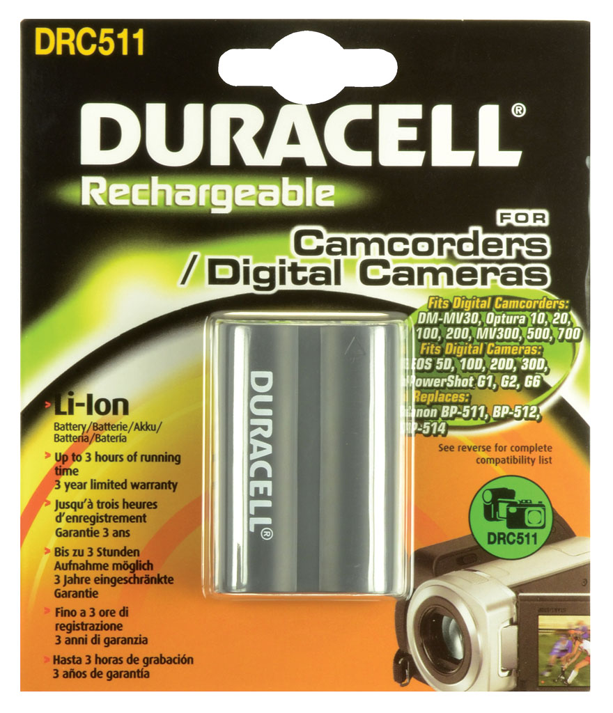 DURACELL.BAT.CANON BP-511 AND