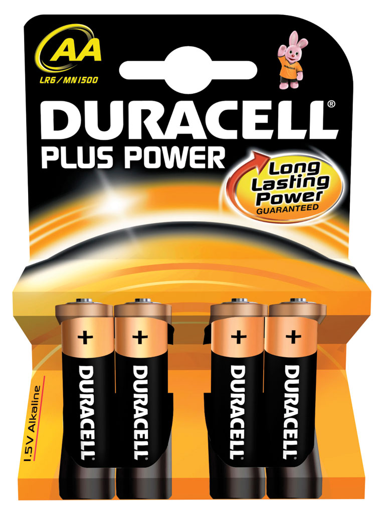 DURACELL PLUS AA PACK 4 UND