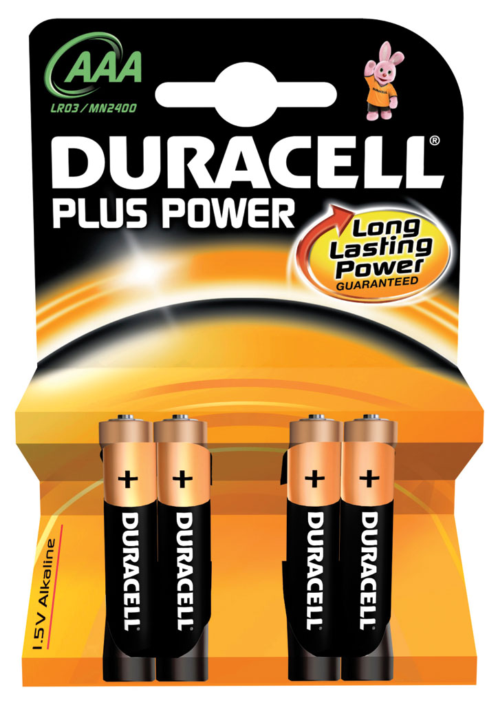DURACELL  PLUS POWER 4UND AAA