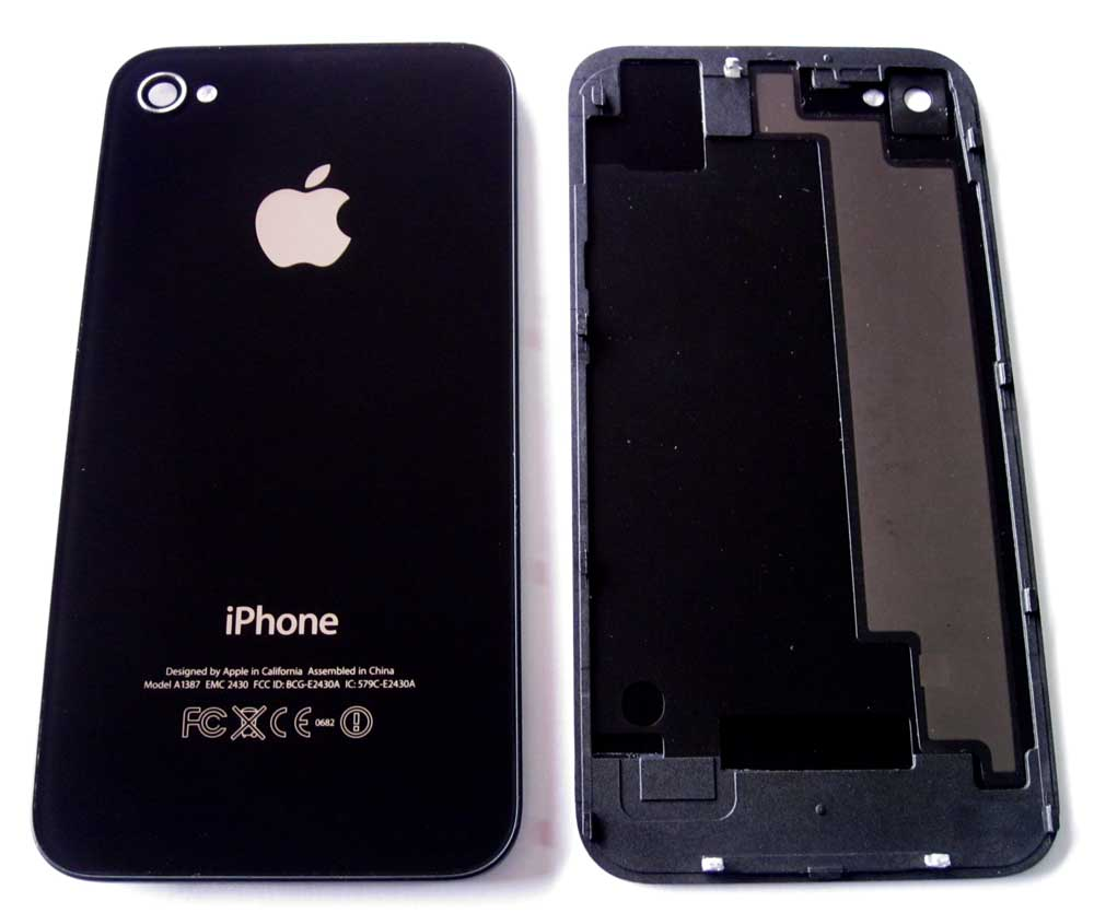 IPHONE 4S BACK COVER ORIG BLAC